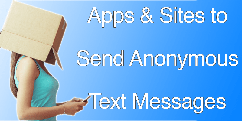 anonymous text app