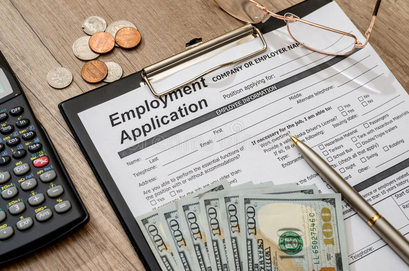 Application for employment royalty free stock photos