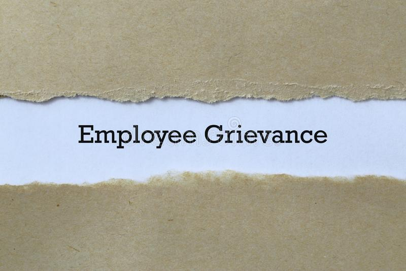 Employee grievance on paper. Background royalty free stock photography