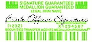 Medallion Signature Guarantee Stamp