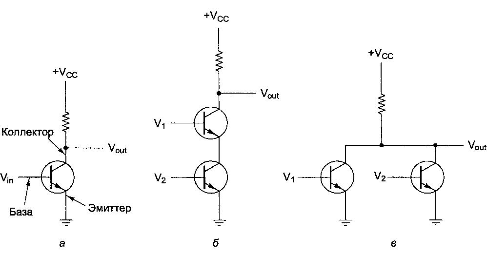 Логическое или схема транзистор